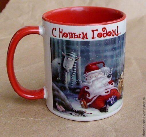 Чашки на Новый Год